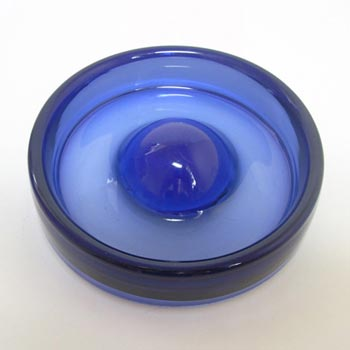 Holmegaard #17969 Per Lutken Blue Glass 'Safir' Bowl - Signed