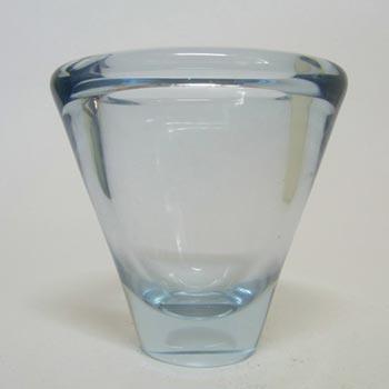 Holmegaard #220186 'Umanak' Blue Glass Vase by Per Lutken - Signed