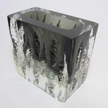 Ingrid/Ingridglas Smokey Glass 'Exquisit' Vase - Signed