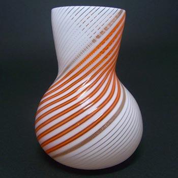 Aureliano Toso/Dino Martens Mezza Filigrana Glass Vase