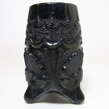Antique Davidson 1890's Victorian Black Milk Glass Vase