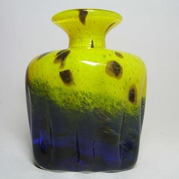 Maltese Mtarfa Organic Yellow + Blue Art Glass Vase