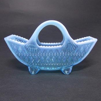Davidson 1900s Blue Pearline Glass Prince William Bowl