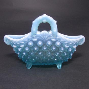 Henry Greener 1900's Victorian Blue Pearline Glass Bowl