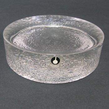Swedish Pukeberg Glass Bowl or Paperweight - Labelled