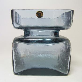 Riihimaki 'Pala' Riihimaen Helena Tynell Blue Glass Vase