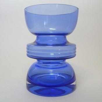 Riihimaki #1441 Riihimaen Nanny Still Blue Glass 'Tiimalasi' Vase
