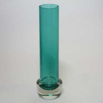 Aseda Bo Borgstrom 1960's Swedish Turquoise Glass Vase