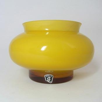 JC 1970's Swedish/Scandinavian Amber Cased Glass Vase