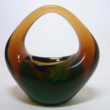 Skrdlovice Czech Glass Sculpture Bowl Jan Beránek #6240
