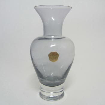Sea Glasbruk 1970s Swedish Smokey Glass Vase - Labelled