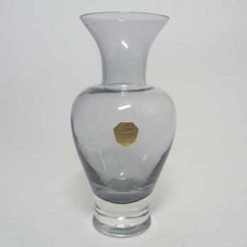 Sea Glasbruk 1970s Swedish Smoky Glass Vase - Labelled