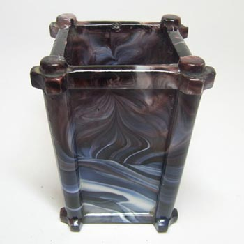 Sowerby #1223 Victorian Purple Malachite/Slag Glass Vase