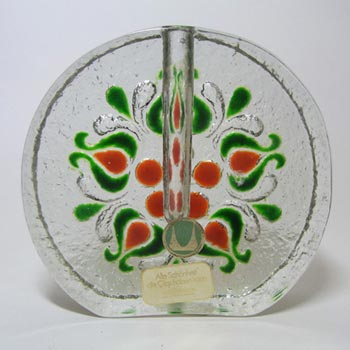 Large Walther Glas German Solifleur 'Wheel' Glass Vase