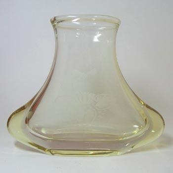 HUGE Zelezny Brod Sklo Czech Citrine Glass Vase