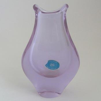 Zelezny Brod Neodymium / Alexandrite Czech Glass Vase