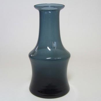 Alsterfors #AV281/17 Scandinavian / Swedish Blue Glass Vase