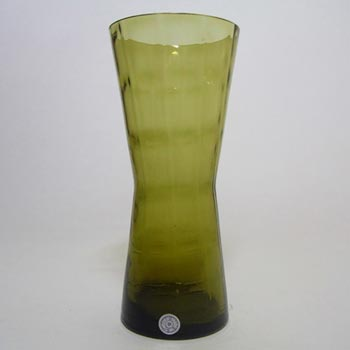 Alsterfors #AV422 Swedish / Scandinavian Green Glass Vase