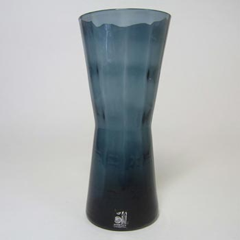 Alsterfors #AV422 Swedish / Scandinavian Blue Glass Vase - Labelled