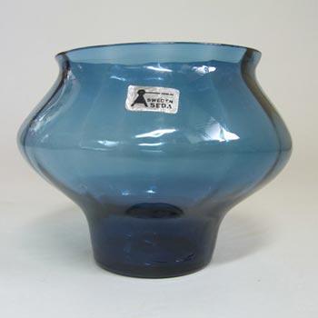 Aseda Swedish Blue Glass Vase by Bo Borgstrom #B15/17