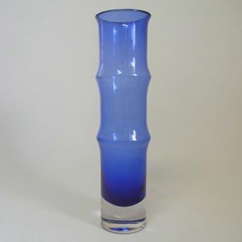 Aseda Swedish Blue Glass Vase by Bo Borgstrom #B5/81