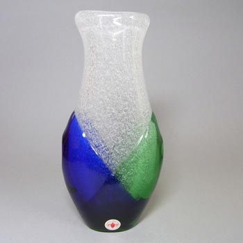Beranek #7609 Czech Blue & Green Glass Vase by Frantisek Spinar