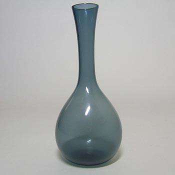Gullaskruf Swedish Blue Glass Vase - Arthur Percy 1952