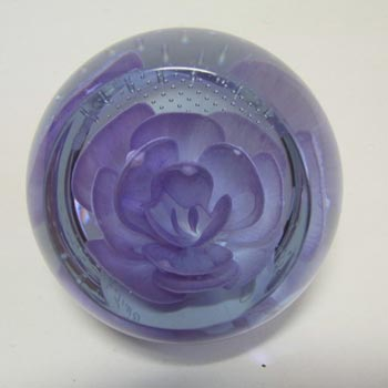 Caithness Glass 'Lavendar' Paperweight - Signed + Boxed