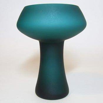 Carlo Moretti Satinato Turquoise Murano Glass Vase - Label