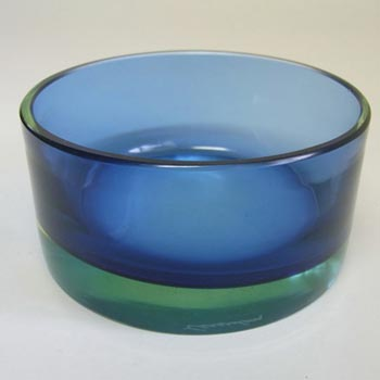 Cenedese Murano / Sommerso Uranium Glass Bowl - Signed