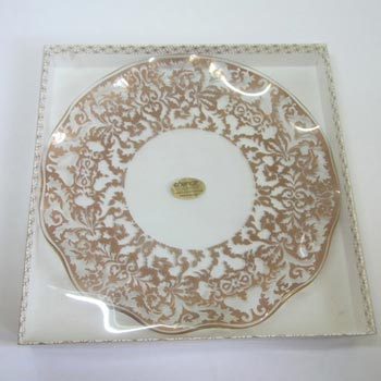 Chance Bros Glass Regency Gold Plate/Dish 1972 - Boxed