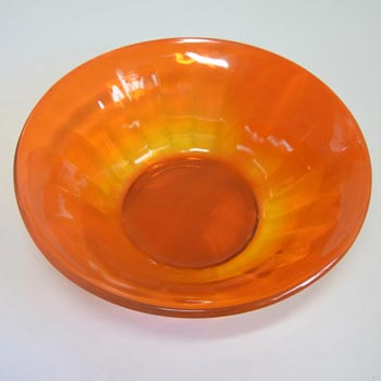 Davidson #732 1930's Art Deco Orange Cloud Glass Bowl