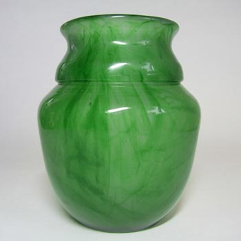 Davidson #34SVG Art Deco Green Cloud Glass Vase