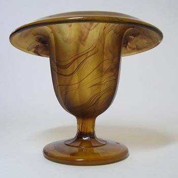 Davidson #293 Art Deco Amber Cloud Glass Vase