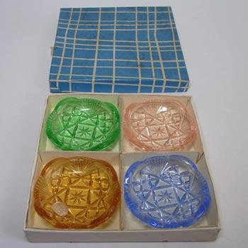 Boxed Set of Jablonecke Sklarny Bowls by Vaclav Hanus