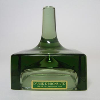 Dansk Swedish Green Glass Candle Holder - Labelled + Boxed