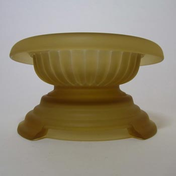 Davidson Art Deco 1930's Frosted Amber Glass Bowl 1910MD