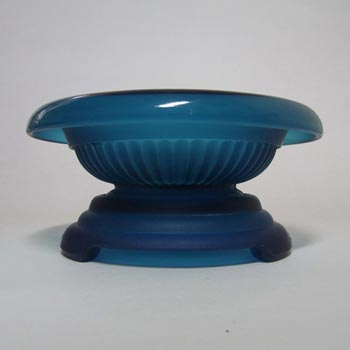 Davidson Art Deco 1930's Frosted Blue Glass Bowl 1910SD