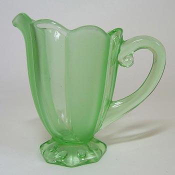Stölzle #19511 Czech Art Deco 1930's Green Glass Jug