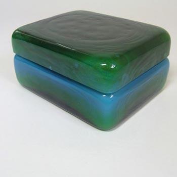 Ekenas Blue + Green Glass Trinket Dish John-Orwar Lake