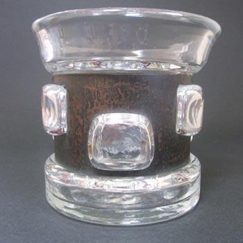 Flygsfors Signed Glass 'Tribal' Vase - Wiktor Berndt