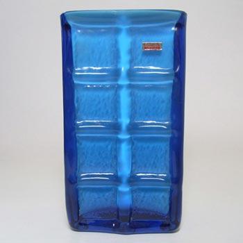 Friedrich German Blue Retro Cased Glass Vase - Labelled