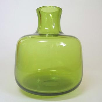 Holmegaard #17795 Christer Holmgren Green Glass 'Majgrøn' Vase - Signed