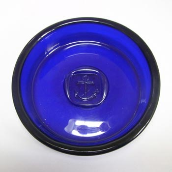Holmegaard 'Viking' Blue Glass Bowl by Ole Winther