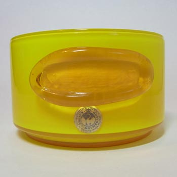 Holmegaard Palet Yellow Cased Glass Bowl by Michael Bang