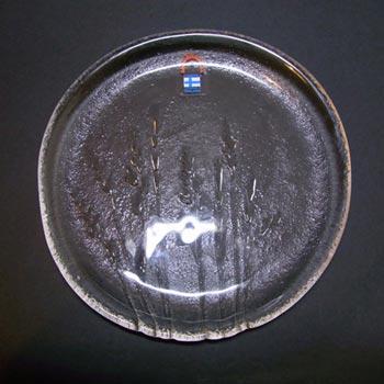 Humppila Scandinavian Glass Wheat Plate/Dish - Labelled