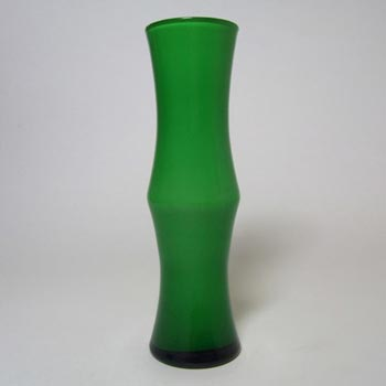 Japanese Green Cased Glass 'Bamboo' Vase - Swedish Style
