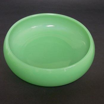 Jobling #1054½ Art Deco Uranium Jade Green Glass Bowl