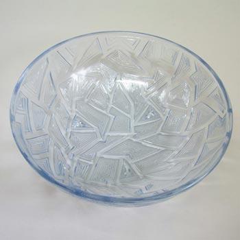 Jobling #2568 1930's Blue Art Deco Glass 'Jazz' Bowl