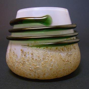 Kralik Art Nouveau 1900's Iridescent Corded Glass Vase